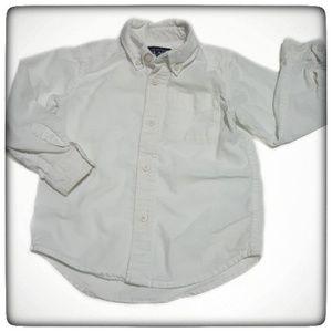 The Children's Place Boy White Poplin Button Up-3T